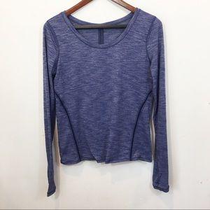Lululemon | Blue Long Sleeve Top Cozy Mesh